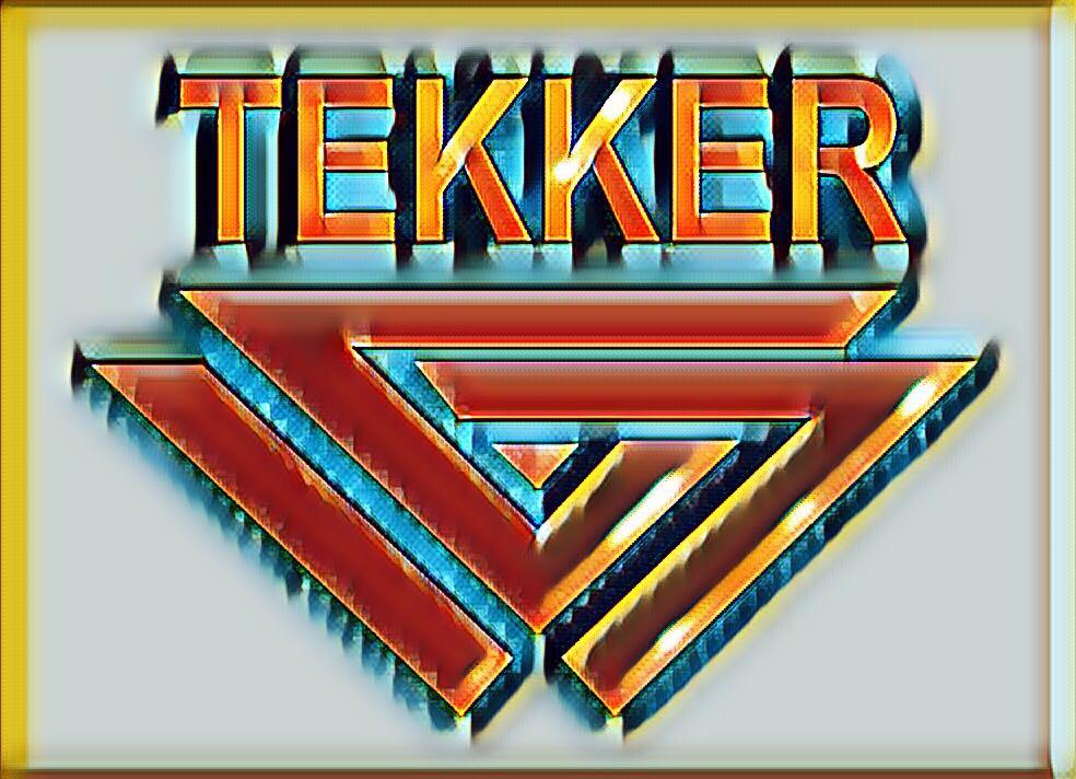 TEKKER Logo rot-gold
